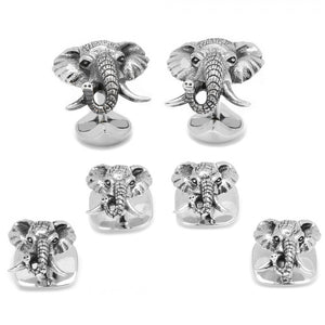 Sterling Elephant Head Stud Set