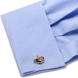 Silver Plated Oregon State Beavers Cufflinks