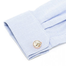 Round 20mm Rose Gold Watch Movement Cufflinks