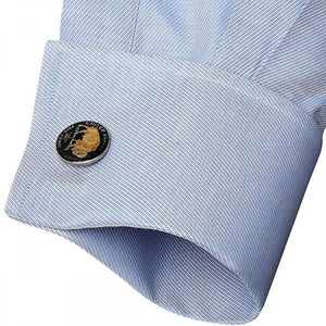 Hand Painted American Buffalo Nickel Coin Cufflinks