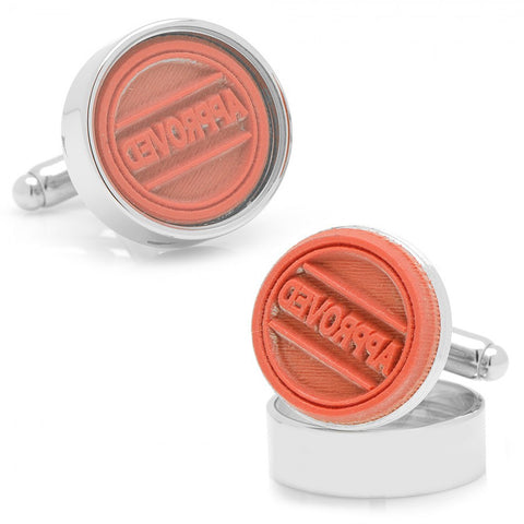 Approved Stamp Cufflinks
