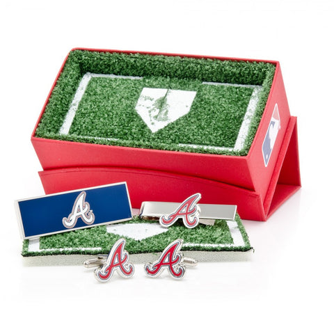 Atlanta Braves Palladium Cufflinks
