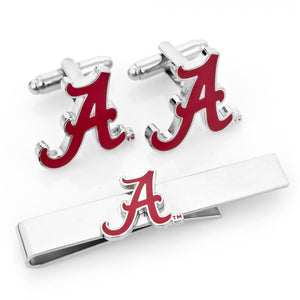 University of Alabama Crimson Tide Cufflinks and Tie Bar Gift Set