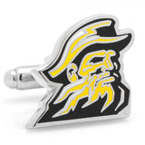 Appalachian State Mountaineers Cufflinks, Silver Plated with Enamel