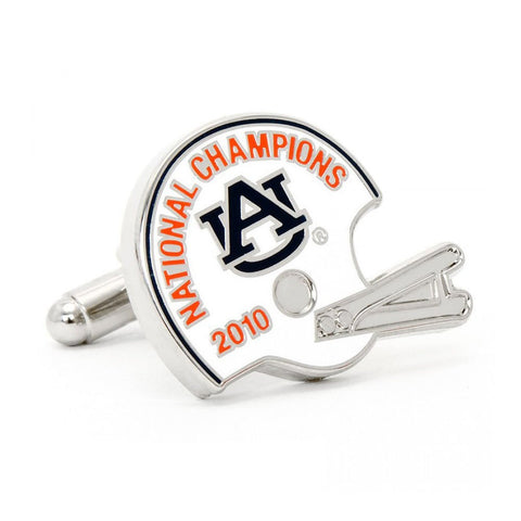 Varsity Football Blue, Green, and Orange Cufflinks