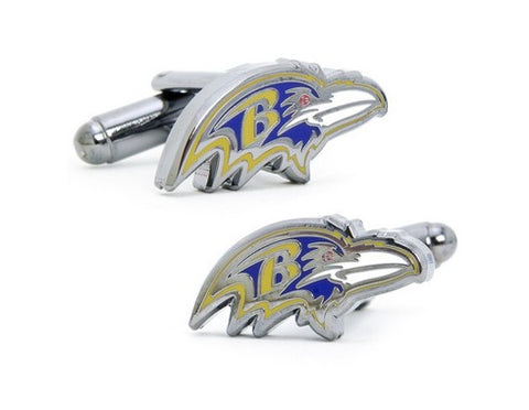 Baltimore Ravens Head Cufflinks and Money Clip Gift Set
