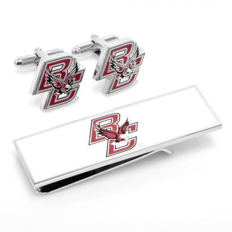 Boston College Eagles Cufflinks and Money Clip Gift Set