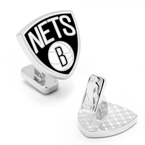 Brooklyn Nets Palladium Cufflinks