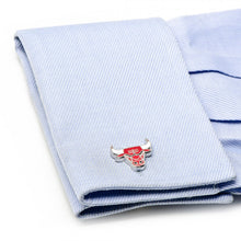 Chicago Bulls Palladium Cufflinks