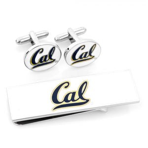 University of California Bears Cufflinks and Money Clip Gift Set