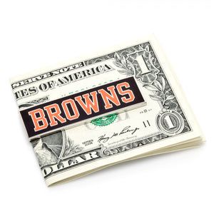 Cleveland Browns Cufflinks and Money Clip Gift Set