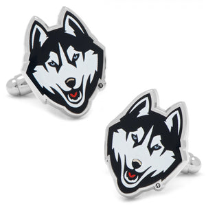 "3/4"" x 1/2"" University of Connecticut Huskies Cufflinks"