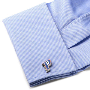 Detroit Pistons Cufflinks - Silver Plated with Enamel