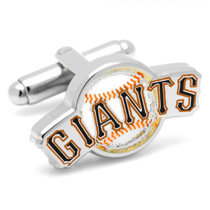 San Francisco Giants Baseball Cufflinks and Tie Bar Gift Set