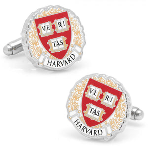 Harvard University Cufflinks and Tie Bar Gift Set