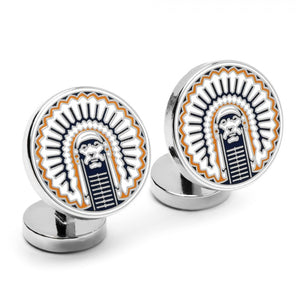 University of Illinois Fighting Illini Palladium Cufflinks