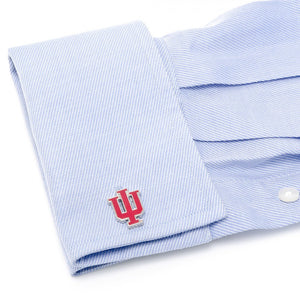 Indiana University Hoosiers Cufflinks and Tie Bar Gift Set