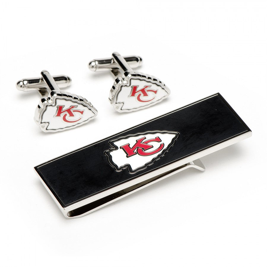 Kansas City Chiefs Cufflinks and Money Clip Gift Set