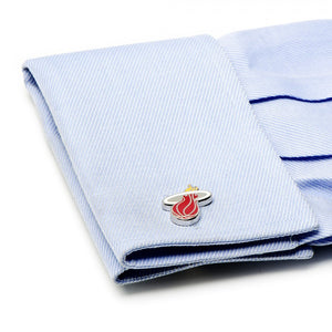 Miami Heat Palladium Cufflinks