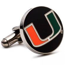 University of Miami Hurricanes Cufflinks and Money Clip Gift Set