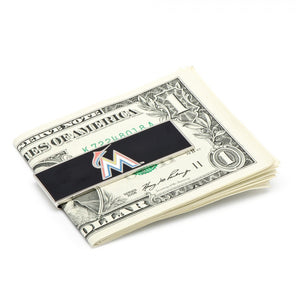 Miami Marlins Cufflinks and Money Clip Gift Set