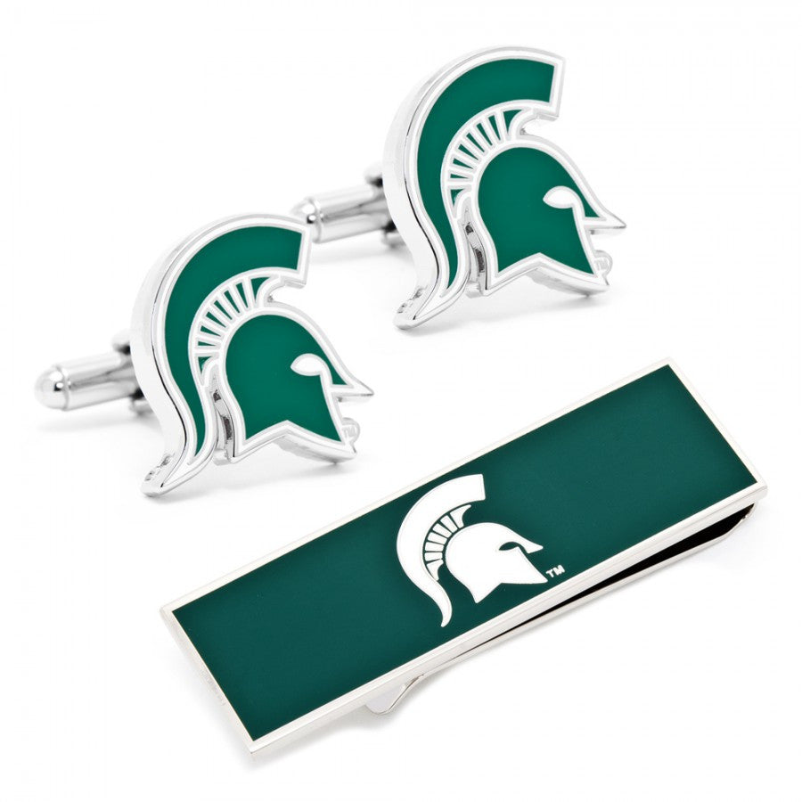 Michigan State Spartans Cufflinks and Money Clip Gift Set