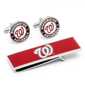Washington Nationals Cufflinks and Money Clip Gift Set