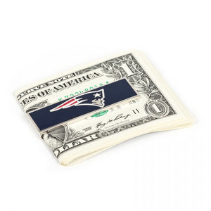 New England Patriots Cufflinks and Money Clip Gift Set