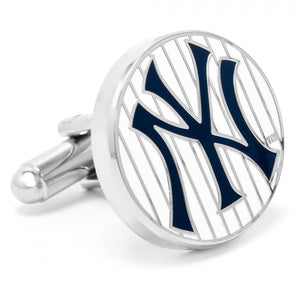 New York Yankees Pinstripe Cufflink and Money Clip Gift Set