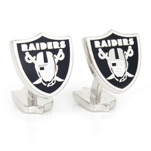 Oakland Raiders Palladium Cufflinks