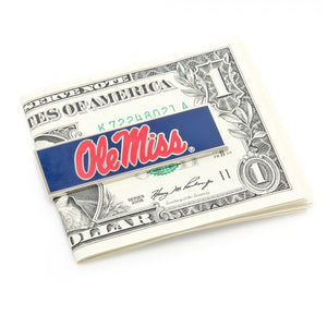 Ole Miss University Rebels Cufflinks and Money Clip Gift Set