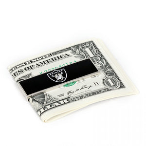 Oakland Raiders Cufflinks and Money Clip Gift Set