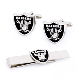 Oakland Raiders Cufflinks and Tie Bar Gift Set