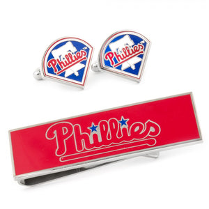 Philadelphia Phillies Cufflinks and Money Clip Gift Set