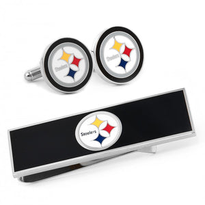 Pittsburgh Steelers Cufflinks and Money Clip Gift Set