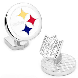 Pittsburgh Steelers Palladium Cufflinks