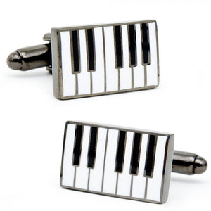 Enamel Piano Cufflinks