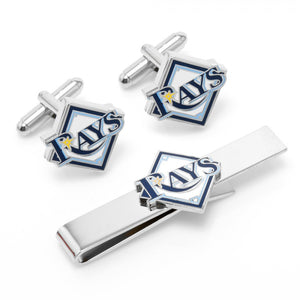 Tampa Bay Rays Cufflinks and Tie Bar Gift Set