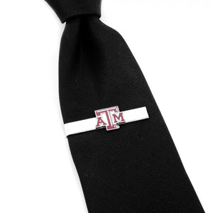 Texas A&M Aggies Cufflinks and Tie Bar Gift Set