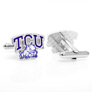 TCU Horned Frog Cufflinks and Tie Bar Gift Set
