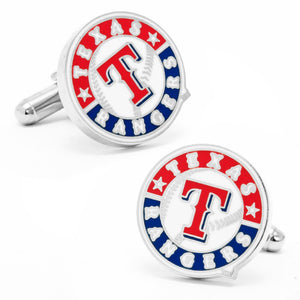 Texas Rangers Cufflinks and Tie Bar Gift Set