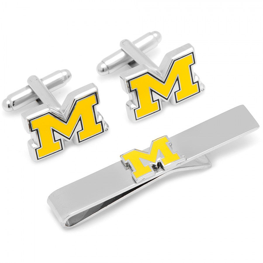 University of Michigan Cufflinks and Tie Bar Gift Set