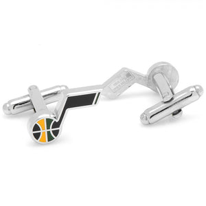 Silver Plated Utah Jazz Cufflinks