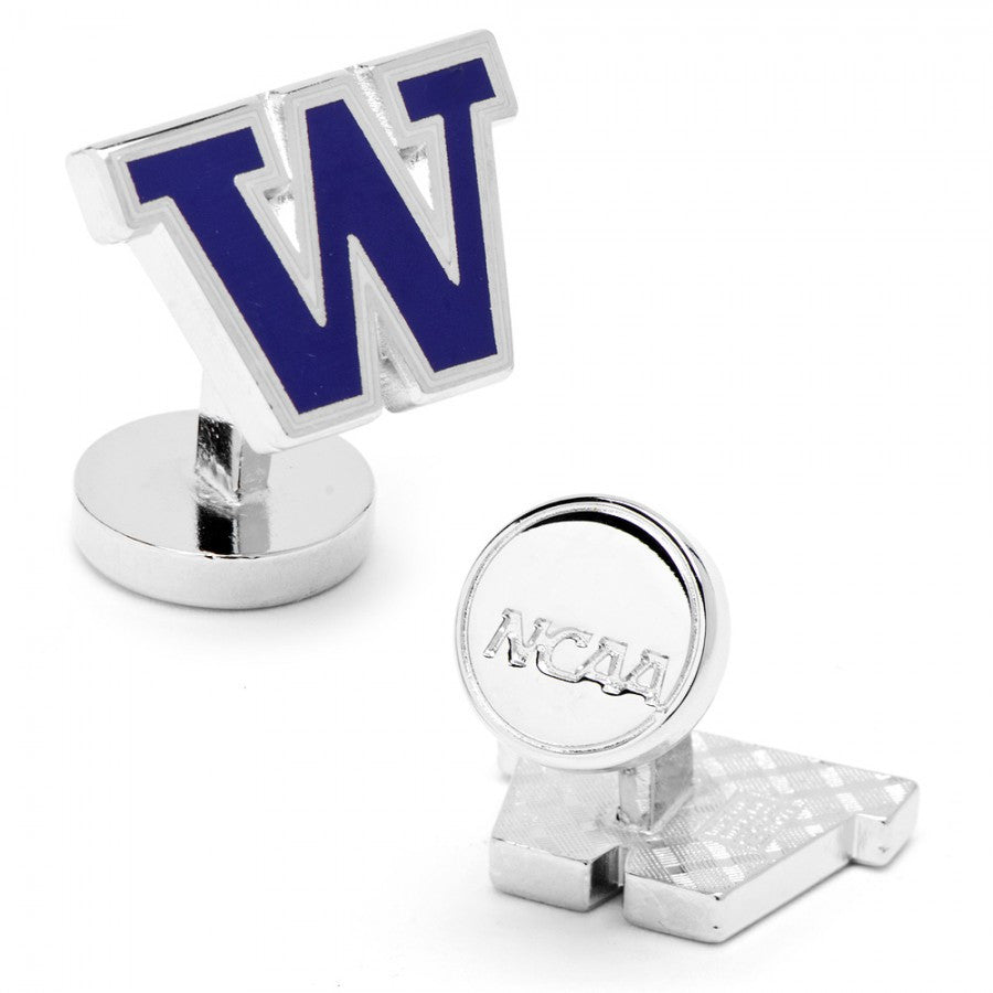 Washington Huskies Palladium Cufflinks