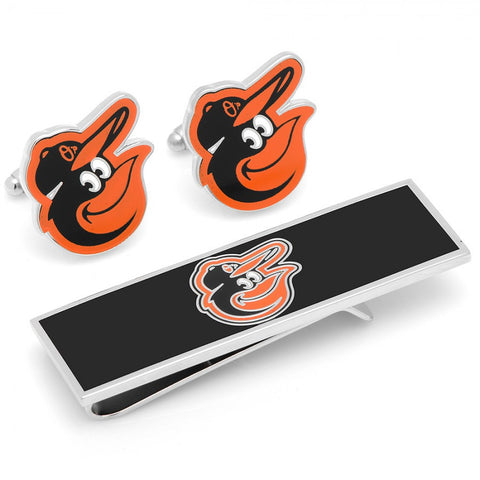 Baltimore Orioles Cufflinks and Money Clip Gift Set