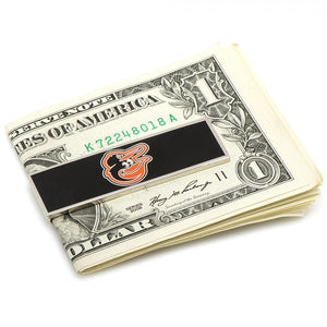 Officially Licensed, Silver Plated Baltimore Orioles Money Clip