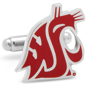 Washington State Cougars Cufflinks and Tie Bar Gift Set