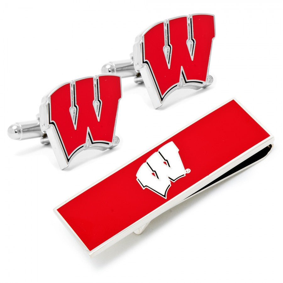 University of Wisconsin Badgers Cufflinks and Money Clip Gift Set