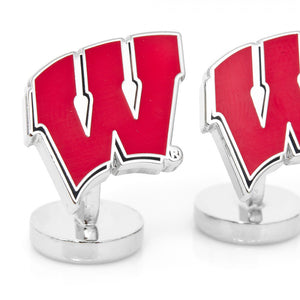 University of Wisconsin Badgers Palladium Cufflinks