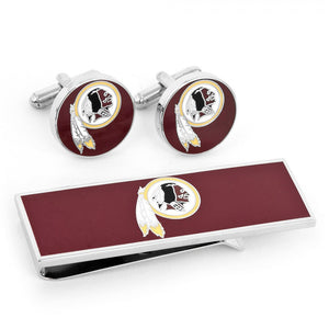 Washington Redskins Cufflinks and Money Clip Gift Set